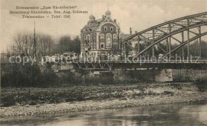 AK / Ansichtskarte Strassburg_Elsass Rheinhafen Restauration Zum Rheinfischer Strassburg Elsass