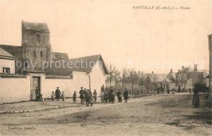 AK / Ansichtskarte Santilly_d_Eure et Loir La Place Santilly_d_Eure et Loir