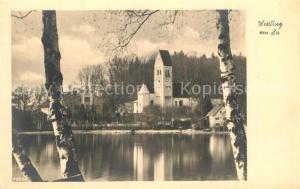 AK / Ansichtskarte Wessling Gasthof zur Post Kirche Starnberger See Wessling