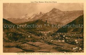 AK / Ansichtskarte Digne les Bains Vue generale Pic de Couars et Cheval Blanc Alpes Digne les Bains