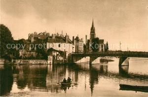 AK / Ansichtskarte Sable sur Sarthe Les grands ponts et l eglise Sable sur Sarthe