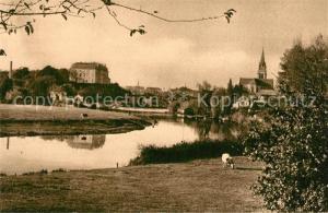 AK / Ansichtskarte Sable sur Sarthe Vue generale Eglise Chateau Sable sur Sarthe