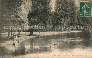 AK / Ansichtskarte Bois_de_Vincennes Lac Daumesnil Cygnes Bois_de_Vincennes