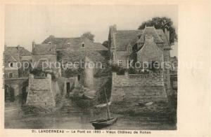 AK / Ansichtskarte Landerneau Le Pont en 1890 Vieux Chateau de Rohan Dessin Kuenstlerkarte Landerneau
