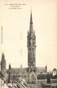 AK / Ansichtskarte Saint Pol de Leon Eglise Notre Dame du Creisker Clocher a jour Saint Pol de Leon