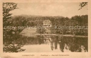 AK / Ansichtskarte Saarbruecken Forsthaus und Deutsch Muehlenweiher Saarbruecken