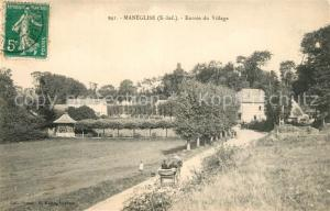 AK / Ansichtskarte Maneglise Entree du Village Maneglise