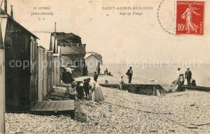 AK / Ansichtskarte Saint Aubin sur Mer_Seine Maritime Sur la Plage Saint Aubin sur Mer