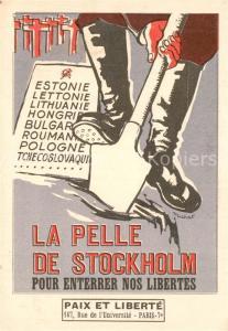 AK / Ansichtskarte Paris La Pelle de Stockholm Paix et Liberte Paris