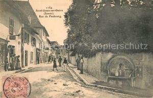 AK / Ansichtskarte Saint Genix sur Guiers Rue du Faubourg Saint Genix sur Guiers