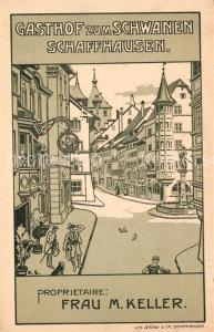 AK / Ansichtskarte Schaffhausen_SH Gasthof zum Schwanen Illustration Schaffhausen SH