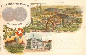 AK / Ansichtskarte Weinfelden Thurg Centenarfeier Festplatz Schloss Rathaus Weinfelden