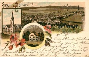 AK / Ansichtskarte Adliswil Panorama Kirche Gasthaus Adliswil