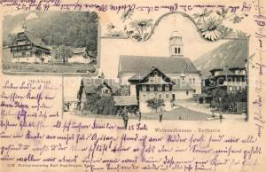 AK / Ansichtskarte Wolfenschiessen Hoechhaus Dorfpartie Wolfenschiessen