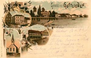 AK / Ansichtskarte Gottlieben Schule Waaghaus Kirche Gottlieben