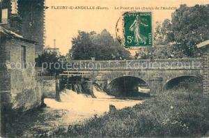 AK / Ansichtskarte Fleury sur Andelle Pont Chutes de l Andelle Fleury sur Andelle