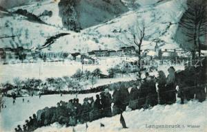 AK / Ansichtskarte Langenbruck_BL Winterpartie Langenbruck BL