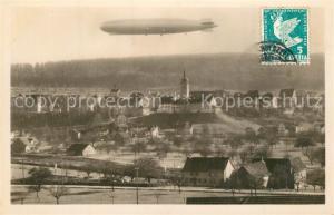 AK / Ansichtskarte Bischofszell Panorama mit Zeppelin Bischofszell