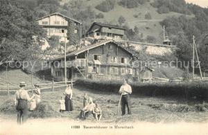 AK / Ansichtskarte Morschach Bauernhaeuser Morschach