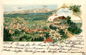 AK / Ansichtskarte Teufen_AR Froehlichsegg Saentis Teufen_AR