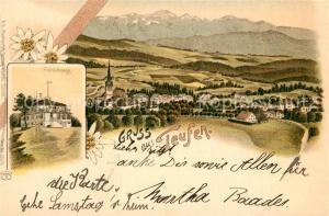 AK / Ansichtskarte Teufen_AR Panorama Froehlichsegg Gasthof Teufen_AR