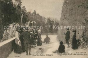 AK / Ansichtskarte Ettingen_BL Schlittelbahn Ettingen Start beim Felsenkreuz Ettingen BL