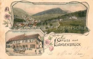 AK / Ansichtskarte Langenbruck_BL Panorama Gasthof zum Baeren Langenbruck BL