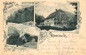 AK / Ansichtskarte Laeufelfingen Bad Ramsach Gasthaus Kirche Laeufelfingen