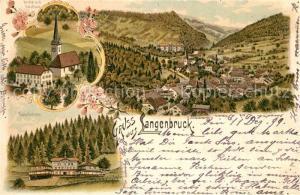 AK / Ansichtskarte Langenbruck_BL Sanatorium Kirche Schulhaus Panorama Langenbruck BL