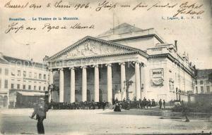 AK / Ansichtskarte Bruxelles_Bruessel Theatre de la Monnaie Bruxelles_Bruessel