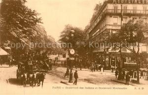 AK / Ansichtskarte Paris Boulevard Italien Boulevard Montmartre Paris