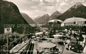 AK / Ansichtskarte Ederkanzel Leutaschtal Mieminger Berge Tirol Gasthaus Terrasse Ederkanzel