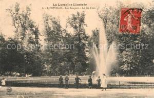 AK / Ansichtskarte Luneville Bosques Jet d Eau Luneville