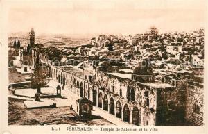 AK / Ansichtskarte Jerusalem_Yerushalayim Temple de Salomon et la Ville Jerusalem_Yerushalayim