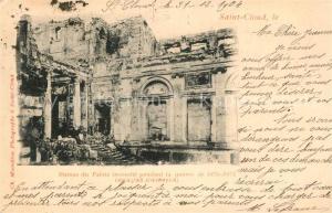 AK / Ansichtskarte Saint_Cloud Ruines du Palais  Saint Cloud