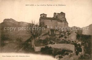 AK / Ansichtskarte Soyans Eglise et Chateau Soyans