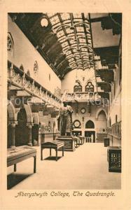 AK / Ansichtskarte Aberystwyth_Bronglais College Quadrangle