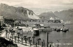 AK / Ansichtskarte Stresa_Lago_Maggiore Panorama Uferpromenade Stresa_Lago_Maggiore