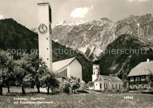 AK / Ansichtskarte Vandans_Vorarlberg Vandanser Steinwand Kirche Vandans Vorarlberg