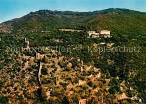 AK / Ansichtskarte Saint Georges les Bains Fliegeraufnahme Ruines Chateau de St Marcel de Crussol Saint Georges les Bains