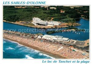 AK / Ansichtskarte Les_Sables d_Olonne Fliegeraufnahme Lac de Tanchet et la plage Les_Sables d_Olonne