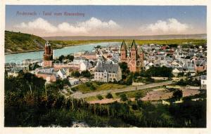 AK / Ansichtskarte Andernach Totalansicht vom Kranenberg aus gesehen Andernach