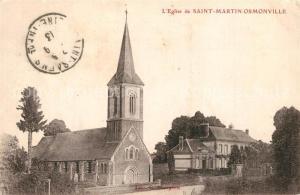 AK / Ansichtskarte Saint Martin Osmonville Eglise de Saint Martin Osmonville Saint Martin Osmonville