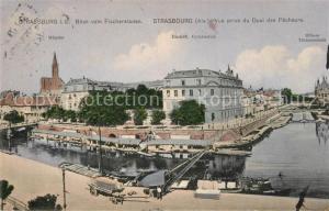 AK / Ansichtskarte Strassburg_Elsass Blick vom Fischerstaden Strassburg Elsass