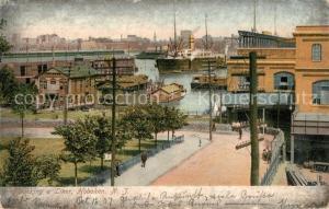 AK / Ansichtskarte Hoboken_New_Jersey Docking a Liner