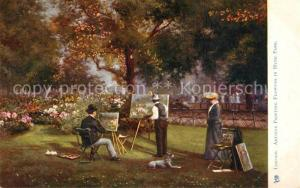 AK / Ansichtskarte London Artists Painting Flowers in Hyde Park London