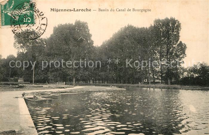 AK / Ansichtskarte Migennes Laroche Bassin du Canal de Bourgogne Migennes 0