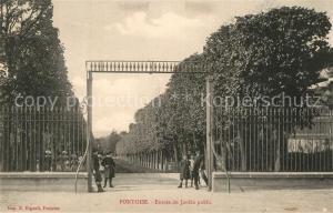 AK / Ansichtskarte Pontoise_Val d_Oise Entr?e du Jardin public