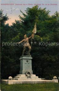 AK / Ansichtskarte Saarbruecken Denkmal des 8. Rhein. Inf Regt Nr 70 im Ehrental Saarbruecken