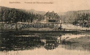 AK / Ansichtskarte Saarbruecken Forsthaus mit Deutschmuehlenweiher Saarbruecken